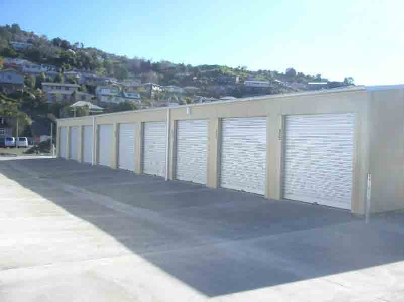 View of Self storage sheds