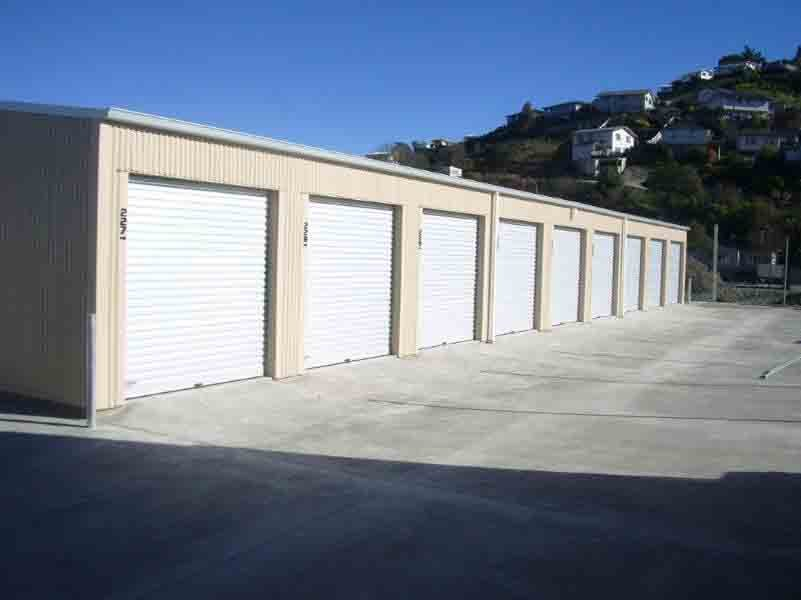 Front view of storage units
