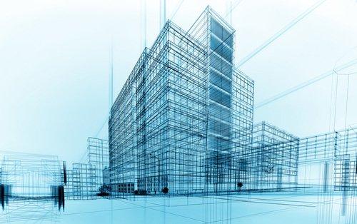 progetto architettonico di un palazzo