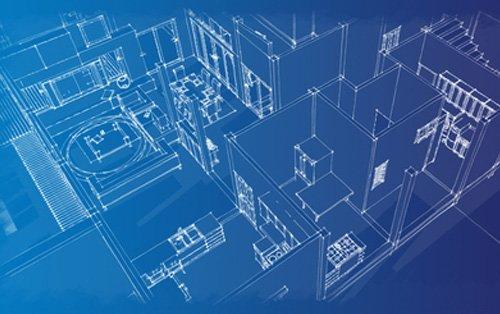 progetto 3D di un palazzo