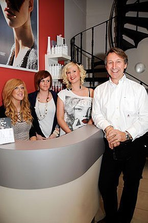 Smiling happy people at Nuthouse Hair Design