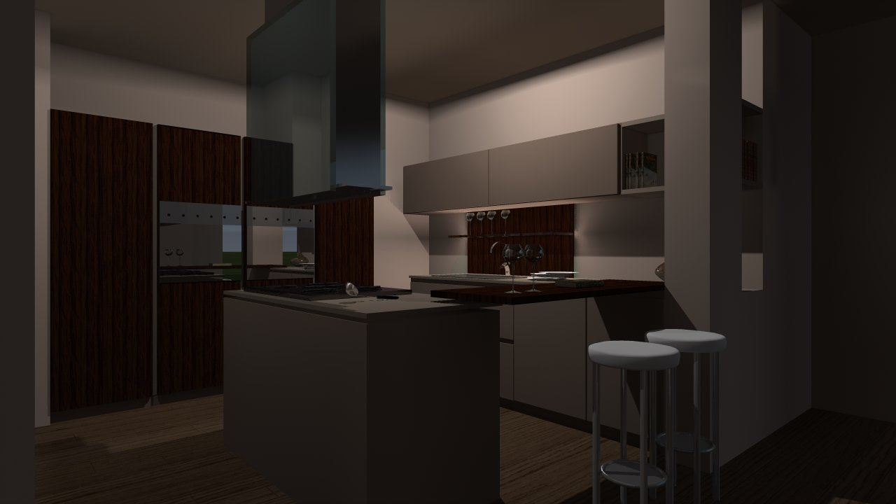 cucina moderna con pareti bianche