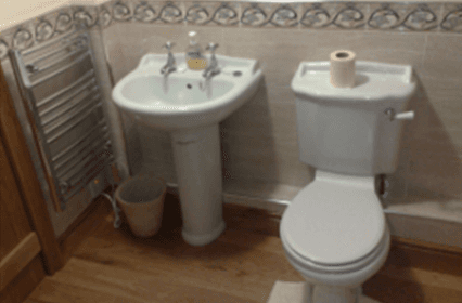 Toilet and sink fitting