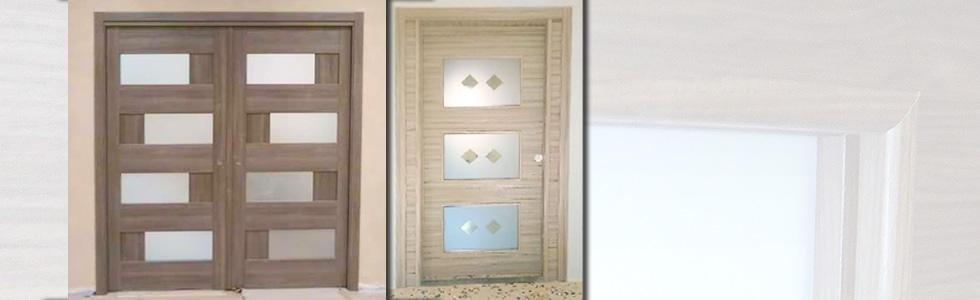 porte per interni con vetro
