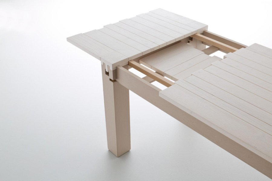 un tavolo di color bianco allungabili