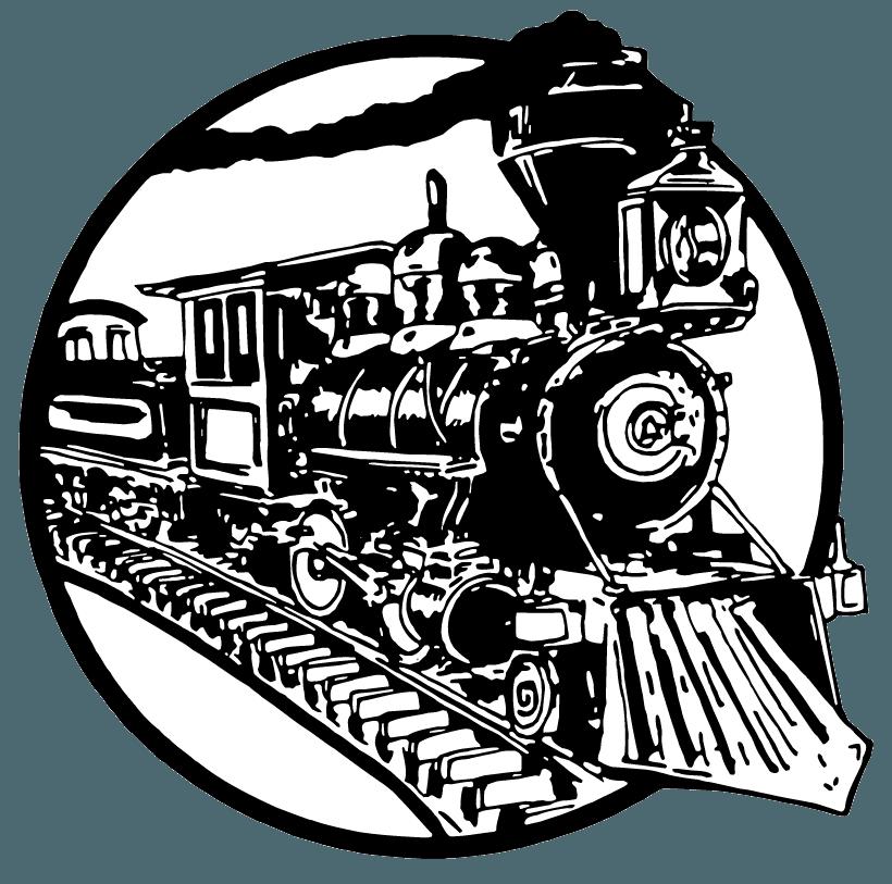 hamburger factory train logo