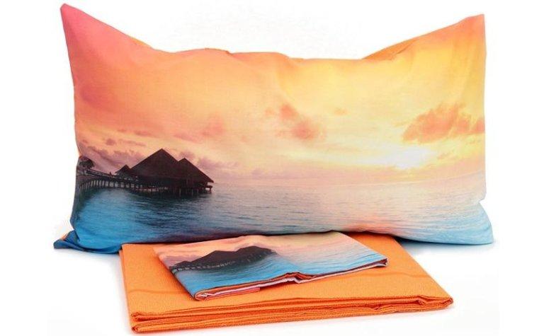 Tramonto stampata le savane e i cuscini