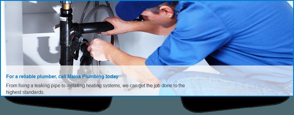 For a plumber in Edinburgh call Mains Plumbing