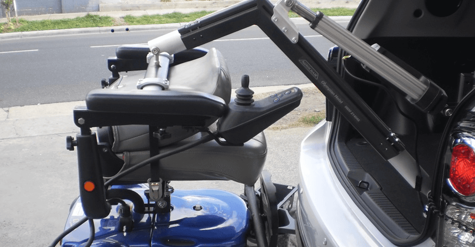 Car being modified for disabled drivers