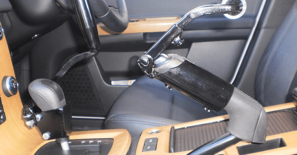 Interior view of the modified car