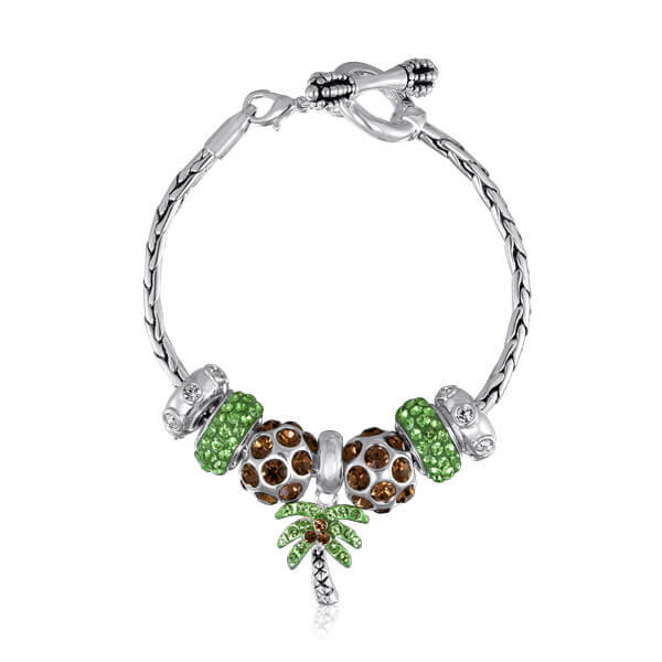 Davinci Charm Bracelet: Center Court- DaVinci Beads FIMH Lockets From New Era