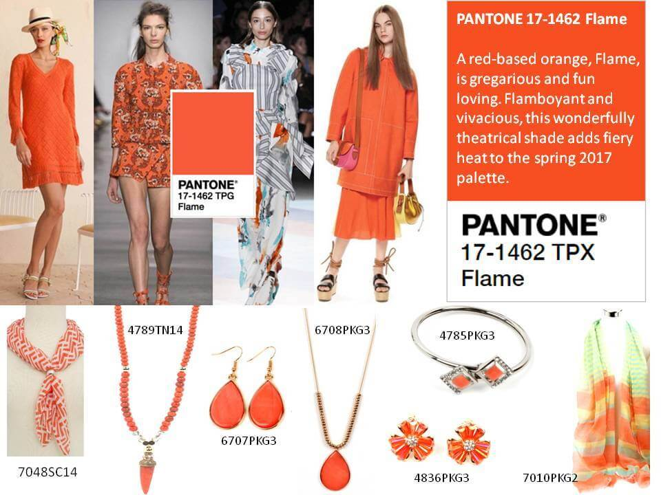 Ethel & Myrtle ® Pantone Flame  Available from NEST