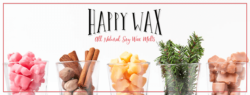 All natural soy wax melts in fun, unique shapes!  Company Overview At Happy Wax, we design and deliver premium soy wax melts for the worldwide wax community.  Our unique, fun shapes make mixing and melting a breeze. Using only all natural, paraffin- and phthalate-free ingredients, our melts are Kosher certified, cruelty-free, and made from American grown soy beans.
