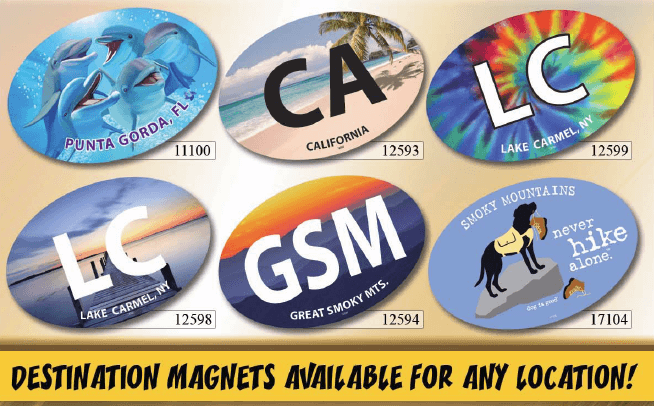SJT Dog Car Magnets Available to the Reseller Via Your NEST Sales Rep