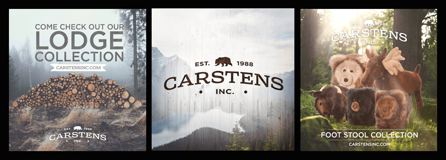 Carstens inc lodge and footstools