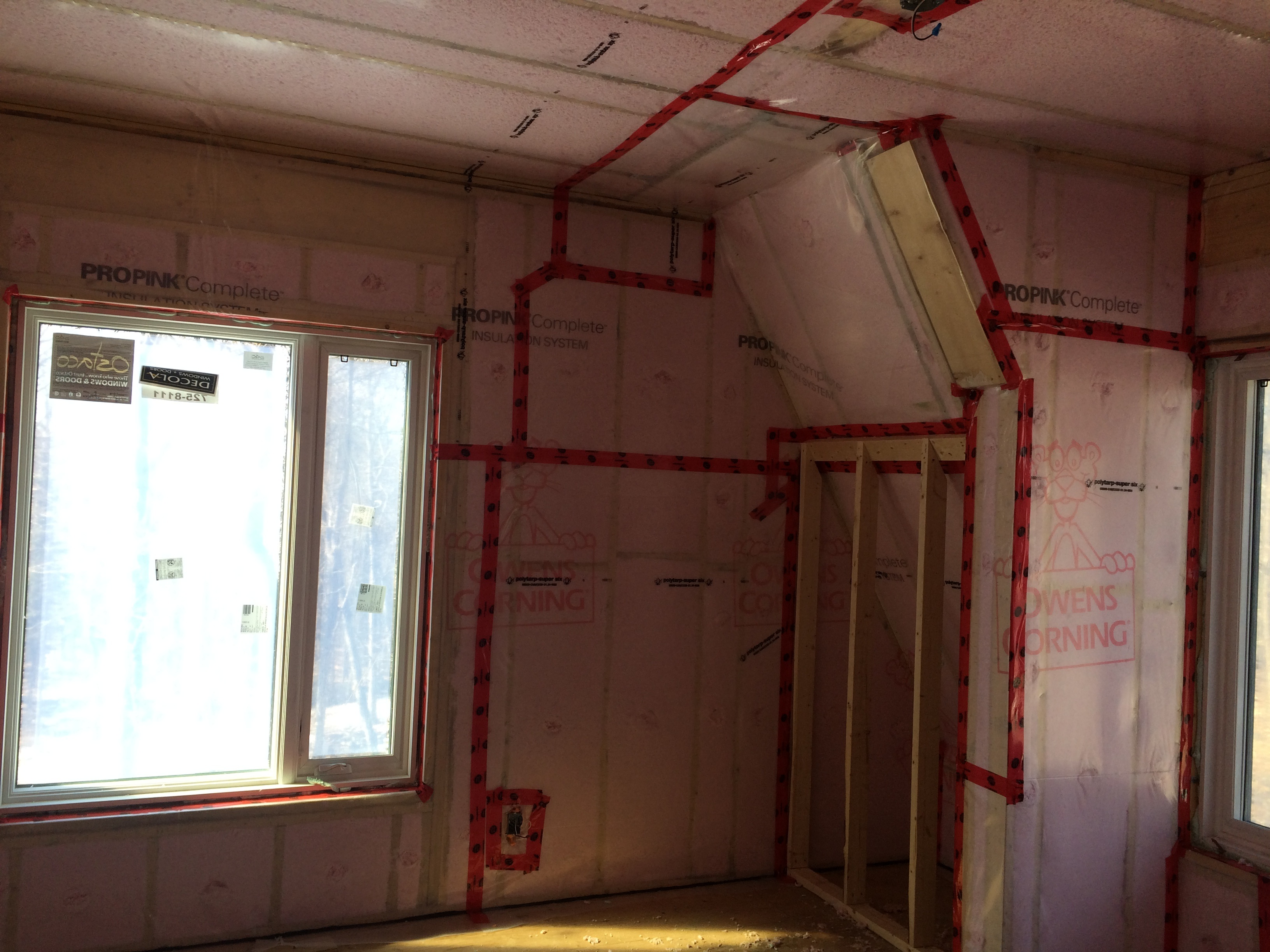 Blown in insulation for Compressed fiberglass insulation