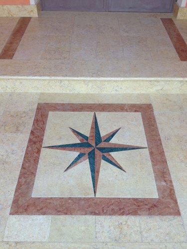 pavimento con stella