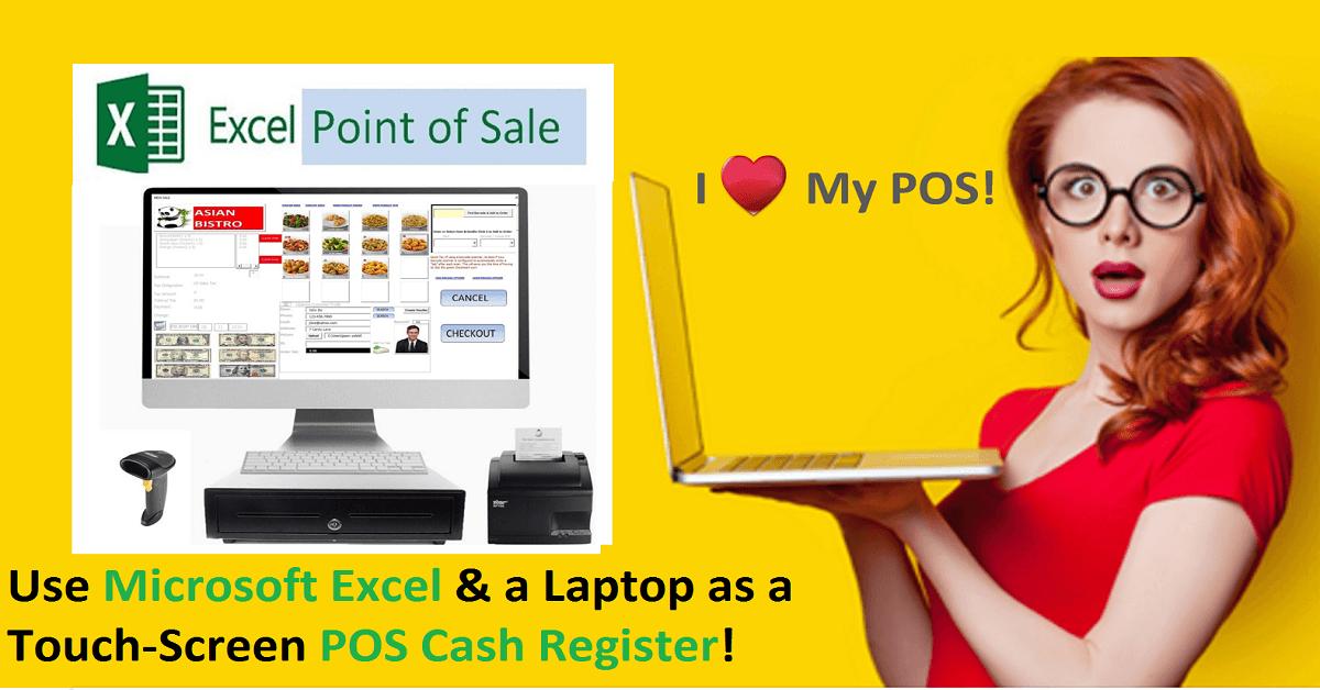 Excel Point Of Sale Ms Excel Point Of Sale Cash Register