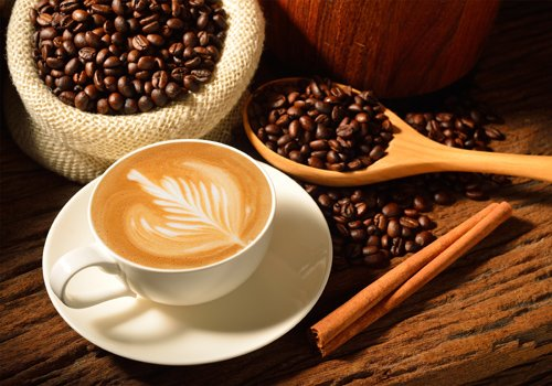 capuccino con chicchi di caffe