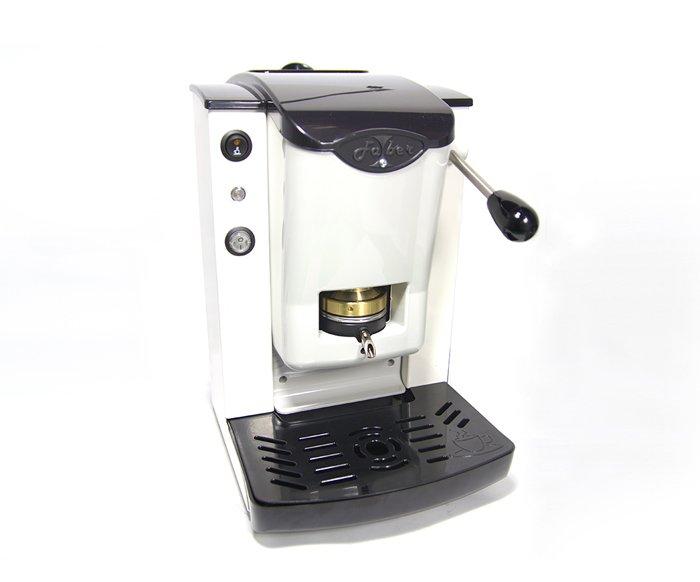 macchinetta per il caffe bianca con manopola