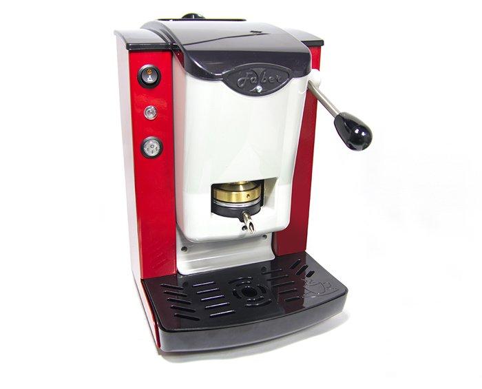 macchinetta per il caffe rossa con manopola