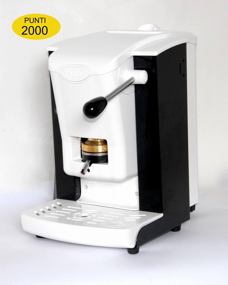 Macchina da caffè bianca
