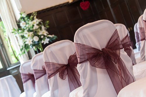 Decoration done at the wedding Venue in Sussex