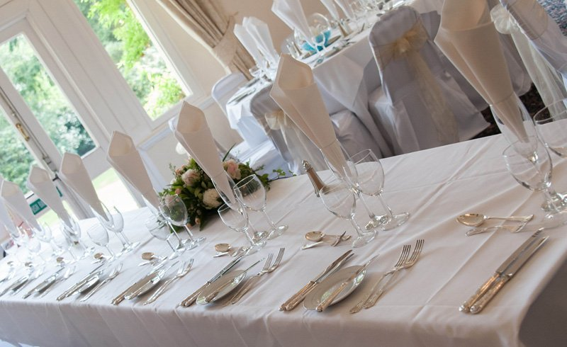 View of the table at the Highley Manor´s Dining hall
