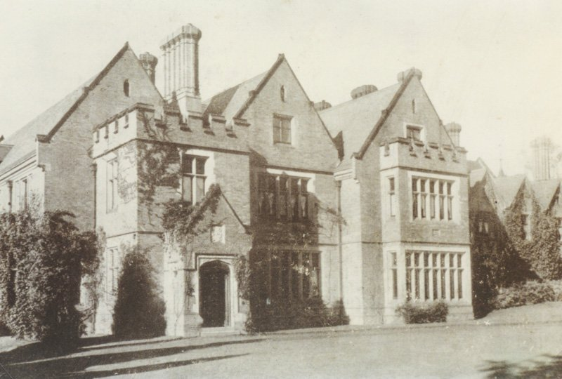 Black and white image of Highley Manor building