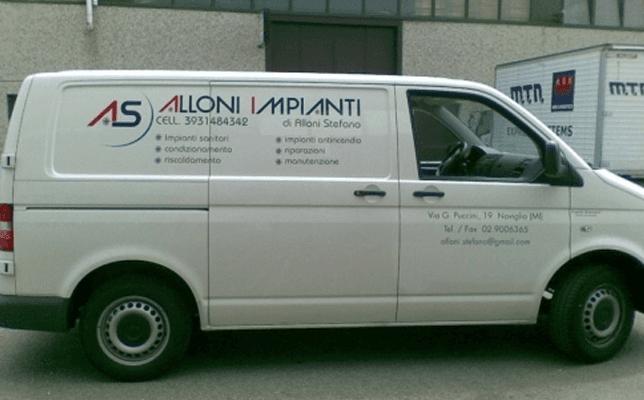 furgoni con pubblicità