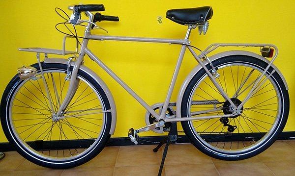 Biciclette di noleggio per uomo con luci e porta ceste