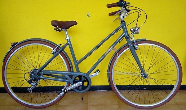 Bicicletta grigia di doppia barra per uomo