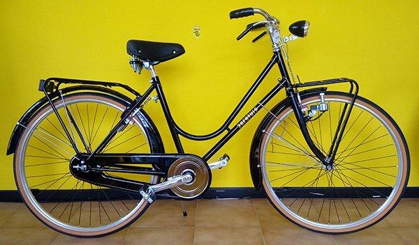 Bicicletta rossa di passeggio