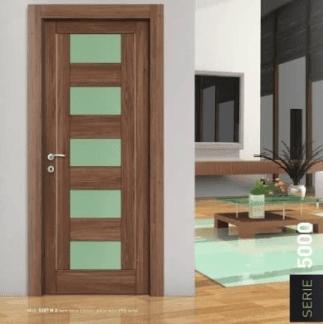 Porta interna con inserti in vetro