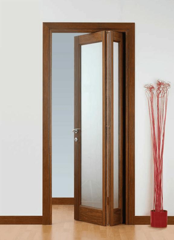 corte vetro pieghevole asimmetrica