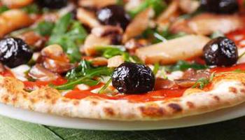 pizza, olive, pizzeria Gerla