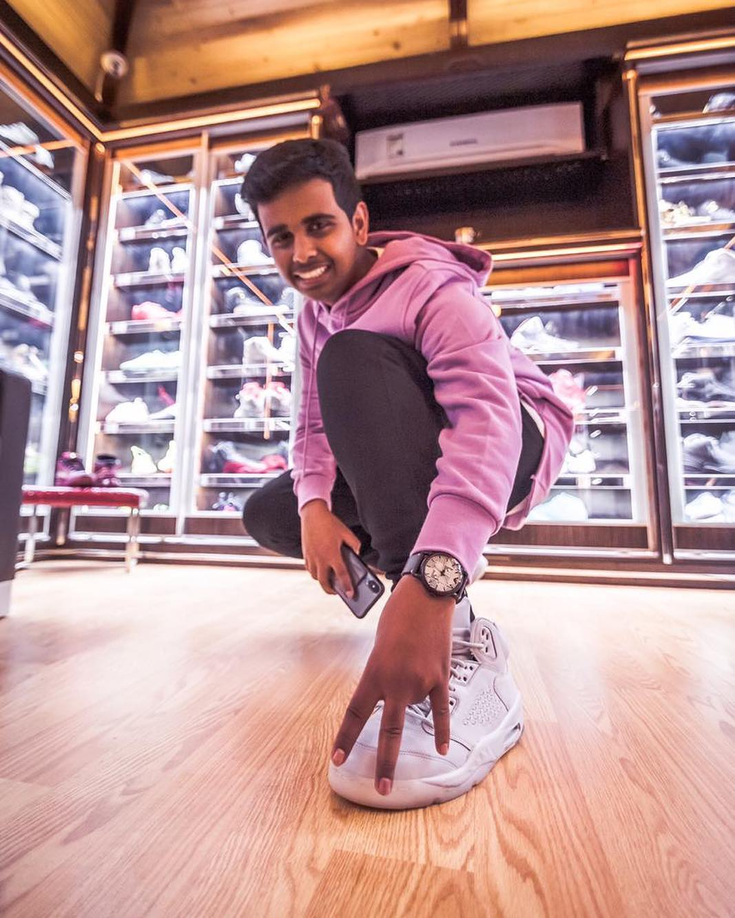 Most valuable sneaker collection owned by a teenager: Rashed Saif Belhasa