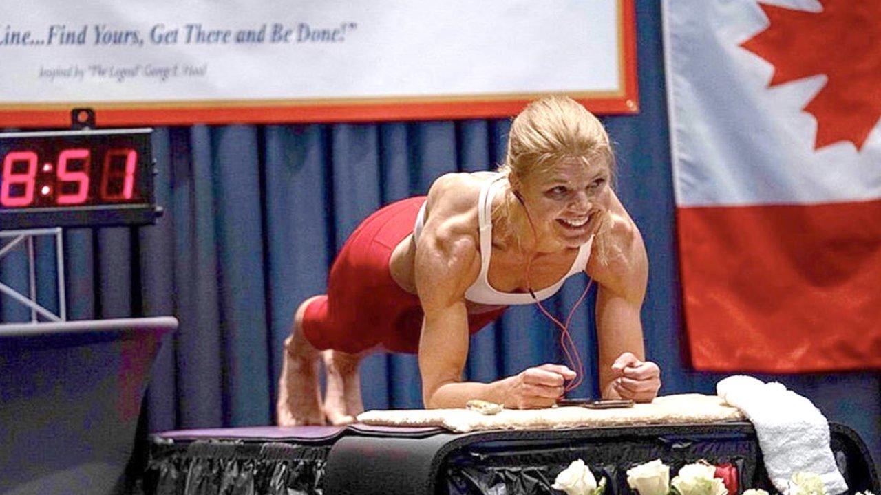 longest time in an abdominal plank position  female   dana