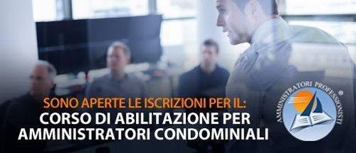 Locandina del corso di abilitazione per amministratori condominiali