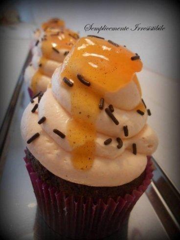 Cupcake con crema di cachi