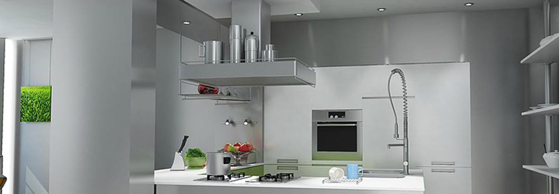 3D rendering di una magnifica cucina integrata