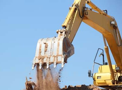 excavation work in progress