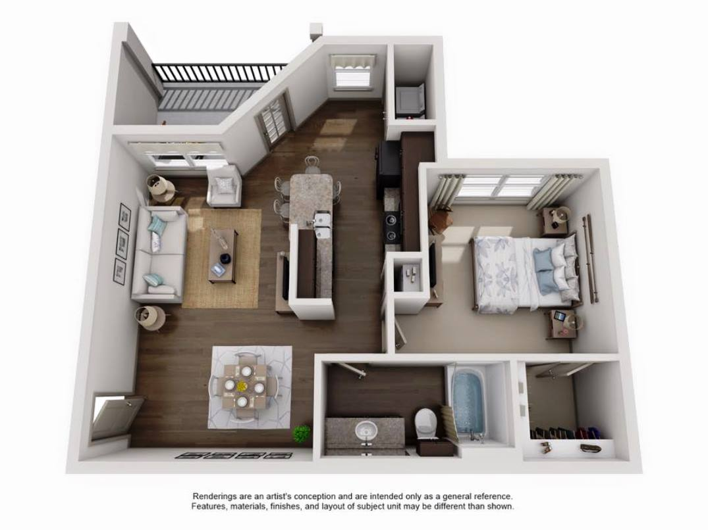 Luxury apartment - Top Down Layout - San Antonio TX - Apartments Today Inc.