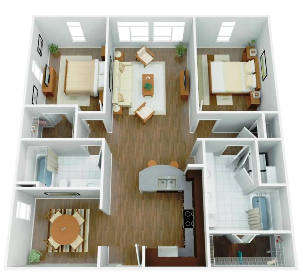 luxury apartment cross section - San Antonio TX - Apartments Today Inc.