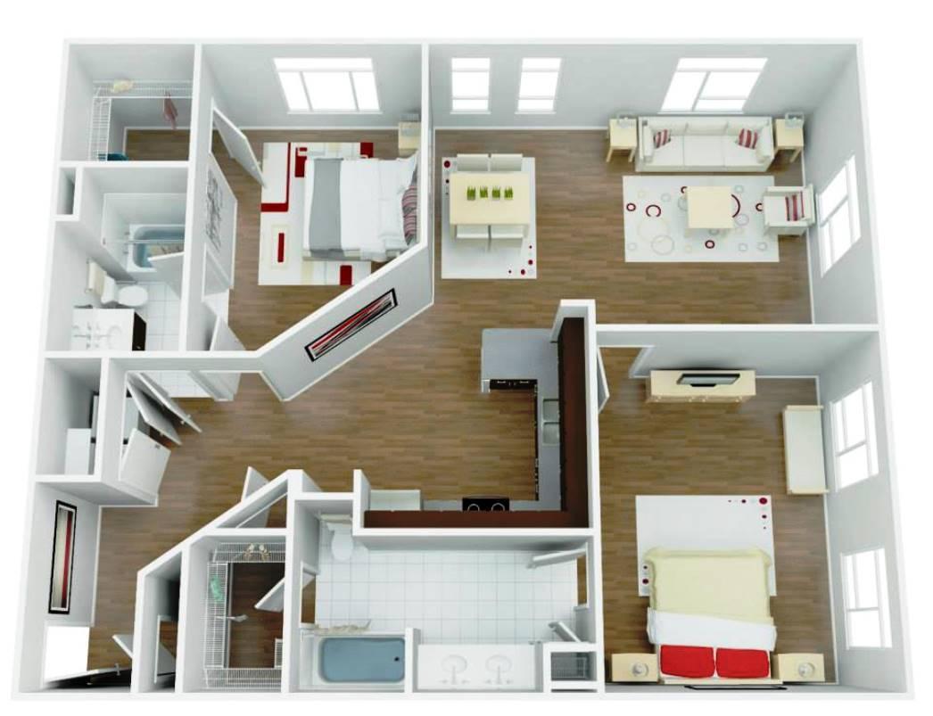 luxury apartment interior layout - San Antonio TX - Apartments Today Inc.