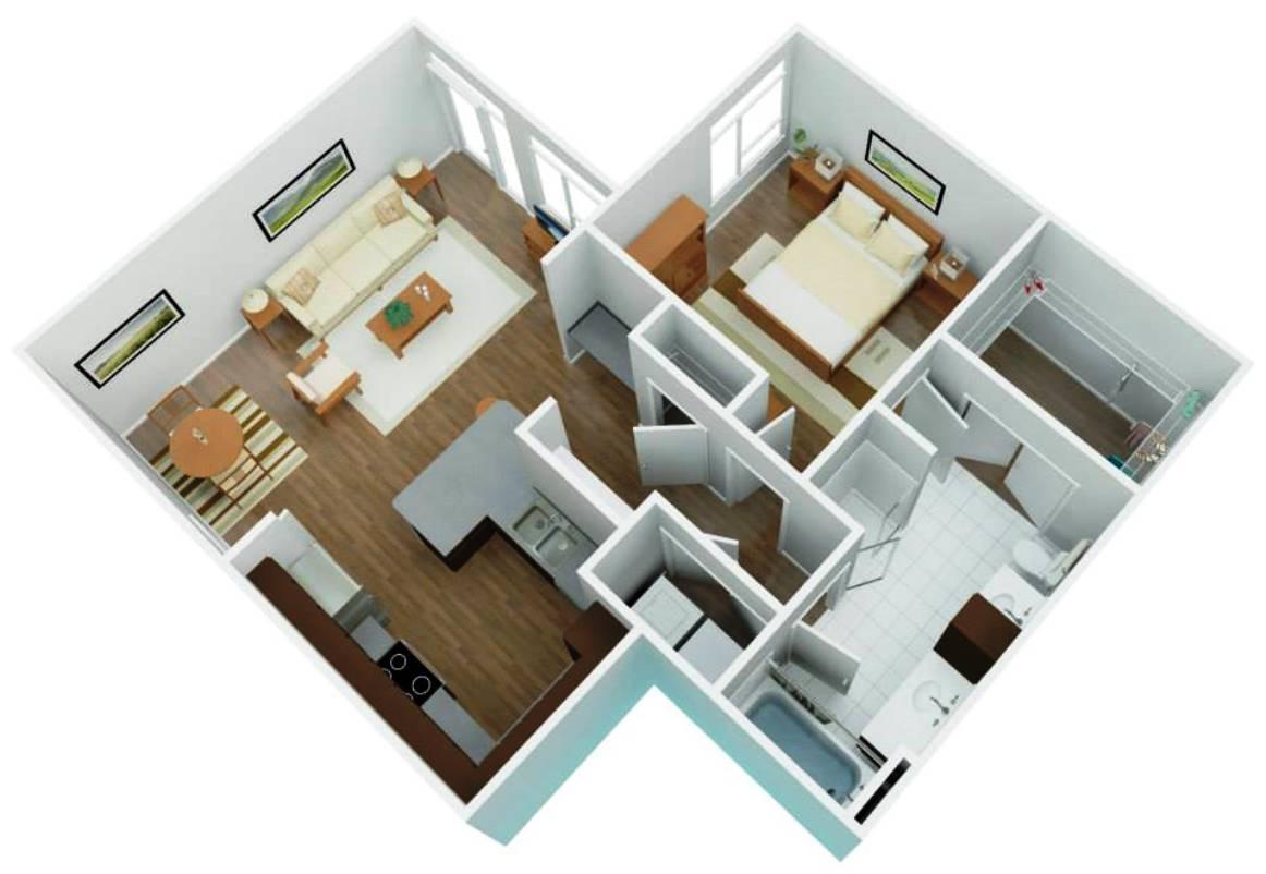 layout of luxury apartment - San Antonio TX - Apartments Today Inc.