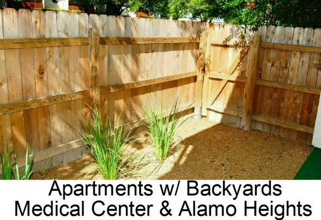 fenced in backyard - San Antonio TX - Apartments Today Inc.