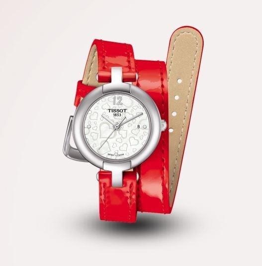 Orologio rosso doppio cinturino