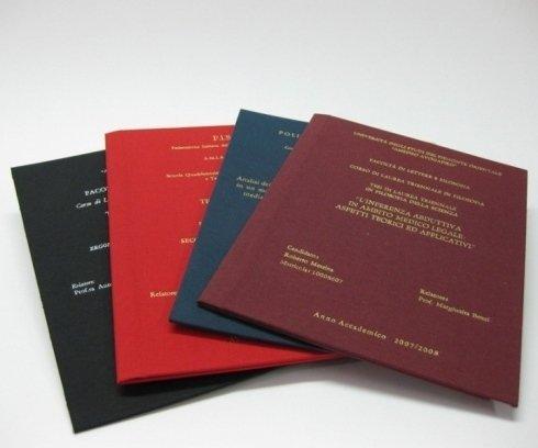Rilegatura tesi di laurea