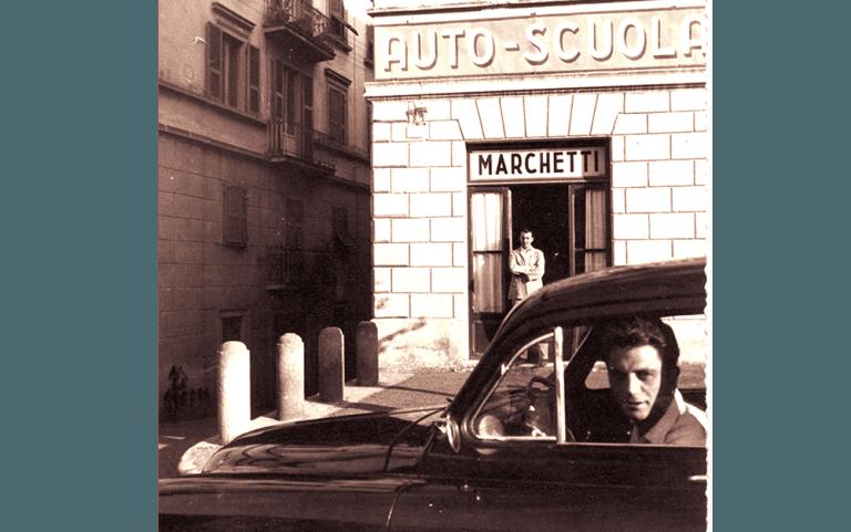 Foto storica entrata agenzia Autoscuola Marchetti